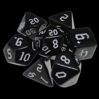 TDSO Gothic Black & White 7 Dice Polyset
