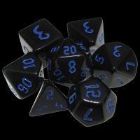 TDSO Gothic Black & Blue 7 Dice Polyset
