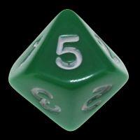 Koplow Opaque Green & White 20mm D5 Dice
