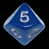 Koplow Opaque Blue & White 20mm D5 Dice