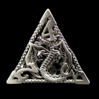 TDSO Metal Hollow Dragon Antique Black Nickel D4 Dice