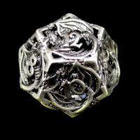 TDSO Metal Hollow Dragon Antique Black Nickel D12 Dice