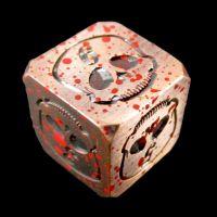 TDSO Metal Skull Copper & Blood Spatter D6 Dice