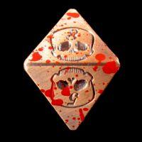 TDSO Metal Skull Copper & Blood Spatter D8 Dice