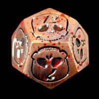 TDSO Metal Skull Copper & Blood Spatter D12 Dice