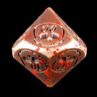 TDSO Metal Skull Copper & Blood Spatter Percentile Dice
