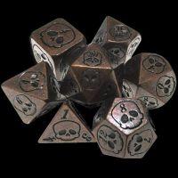TDSO Metal Skull Antique Copper 7 Dice Polyset