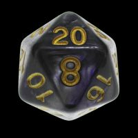 TDSO Duel Purple & Steel with Gold D20 Dice