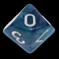 TDSO Duel Purple & Teal with White D10 Dice