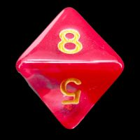 TDSO Cyclone Red & White D8 Dice