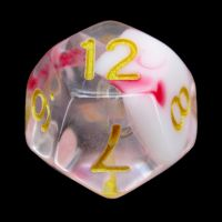 TDSO Cyclone Red & White D12 Dice