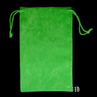 TDSO Large Bright Green Soft Touch Dice Bag