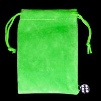 TDSO Small Bright Green Soft Touch Dice Bag