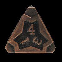 TDSO Metal Arcanist Antique Copper D4 Dice