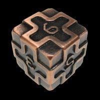 TDSO Metal Arcanist Antique Copper D6 Dice