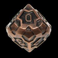 TDSO Metal Arcanist Antique Copper D10 Dice