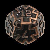 TDSO Metal Arcanist Antique Copper D12 Dice