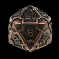 TDSO Metal Arcanist Antique Copper D20 Dice