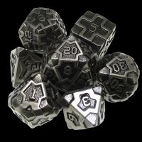 TDSO Metal Arcanist Antique Silver 7 Dice Polyset