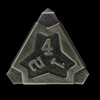 TDSO Metal Arcanist Antique Silver D4 Dice