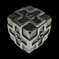 TDSO Metal Arcanist Antique Silver D6 Dice