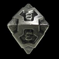 TDSO Metal Arcanist Antique Silver D8 Dice