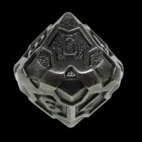 TDSO Metal Arcanist Antique Silver D10 Dice