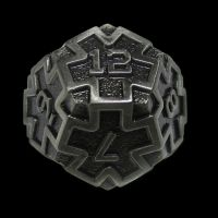 TDSO Metal Arcanist Antique Silver D12 Dice