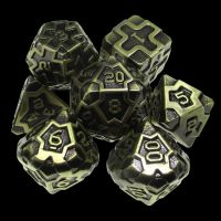 TDSO Metal Arcanist Antique Gold 7 Dice Polyset