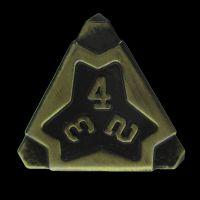 TDSO Metal Arcanist Antique Gold D4 Dice