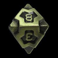 TDSO Metal Arcanist Antique Gold D8 Dice
