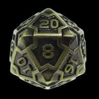 TDSO Metal Arcanist Antique Gold D20 Dice