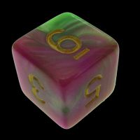 TDSO Duel Pearl Green & Rose D6 Dice