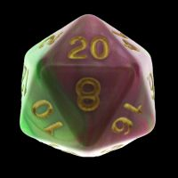 TDSO Duel Pearl Green & Rose D20 Dice