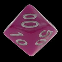 TDSO Duel Pink & Pearl White Percentile Dice