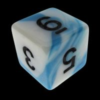 TDSO Duel Teal & White D6 Dice