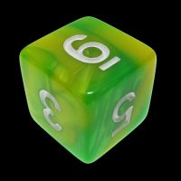 TDSO Duel Green & Yellow With White D6 Dice