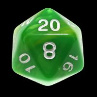 TDSO Duel Green & Yellow With White D20 Dice