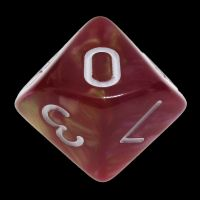 TDSO Duel Rose & Yellow D10 Dice