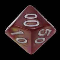TDSO Duel Rose & Yellow Percentile Dice