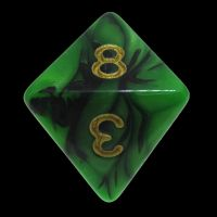 TDSO Duel Black & Green D8 Dice