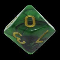 TDSO Duel Black & Green D10 Dice