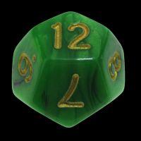 TDSO Duel Black & Green D12 Dice