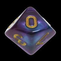 TDSO Duel Purple & Teal D10 Dice