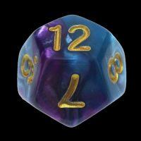 TDSO Duel Purple & Teal D12 Dice