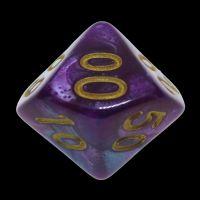 TDSO Duel Purple & Teal Percentile Dice