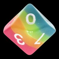 TDSO Layer Candy Glow In The Dark D10 Dice