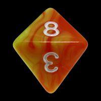 TDSO Duel Orange & Yellow D8 Dice