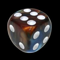 TDSO Duel Red & Teal 16mm D6 Spot Dice