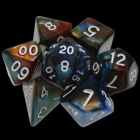TDSO Duel Red & Teal 7 Dice Polyset